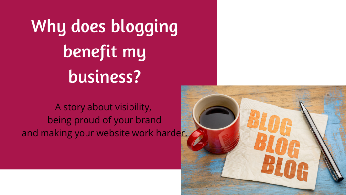 Blog title Blogging benefit business