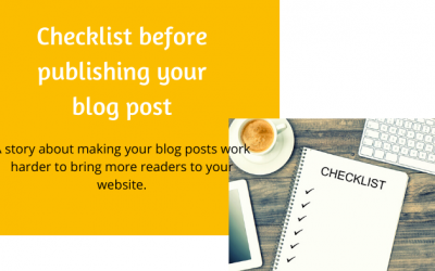 A simple checklist before publishing your blog post